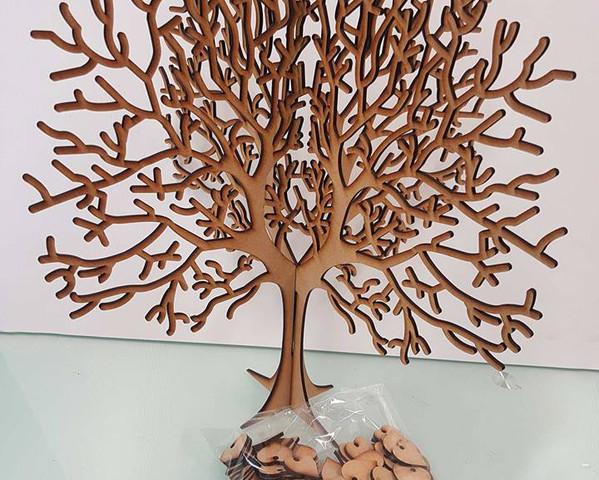 Lasercut MDF Guest Tree