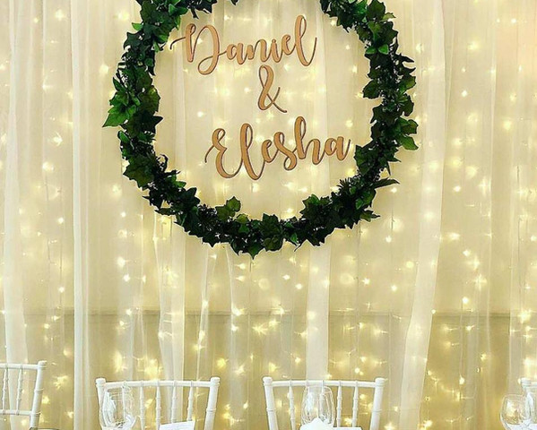 Lasercut MDF Names for Wreath