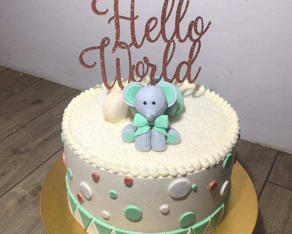 Lasercut MDF Cake Topper