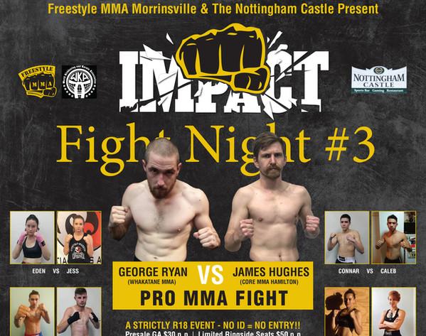 Impact Fight NIght Morrinsville Poster
