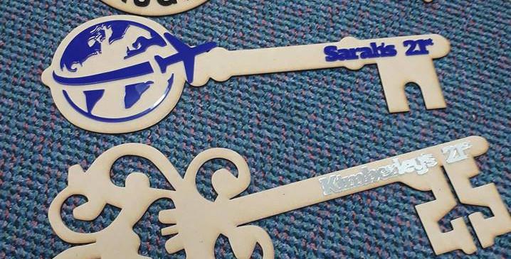 Lasercut MDF and Acrylic 21st Keys