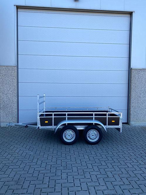 Dubbelas aanhangwagen 257 x 151cm 750kg