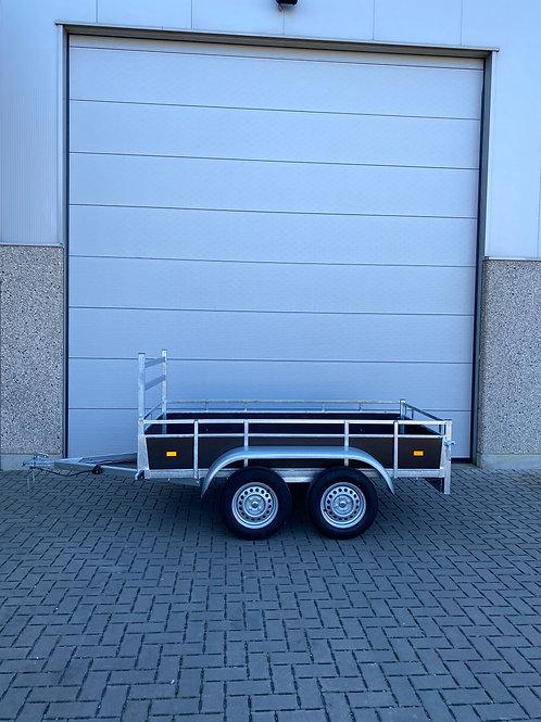 Dubbelas aanhangwagen 225 x 131cm 750kg