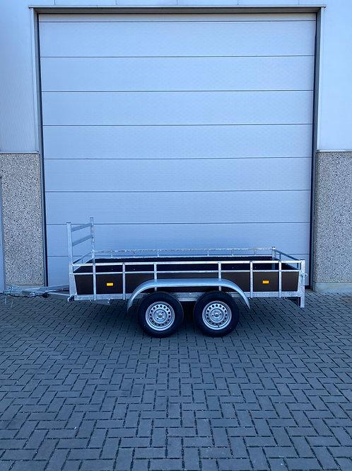 Dubbelas aanhangwagen 300x 131cm 750kg