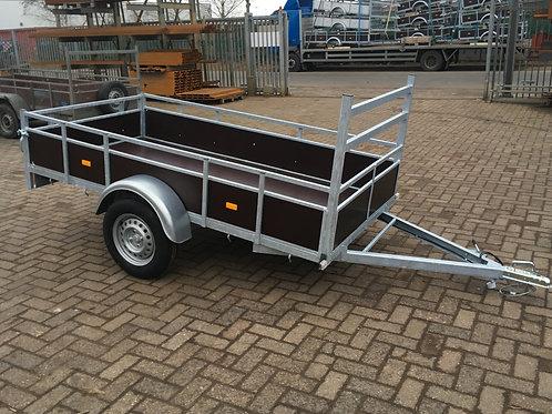 Enkelas aanhangwagen 257 x 131cm 750kg