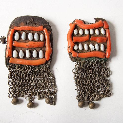 Rare Tuareg hair ornaments or temporals.