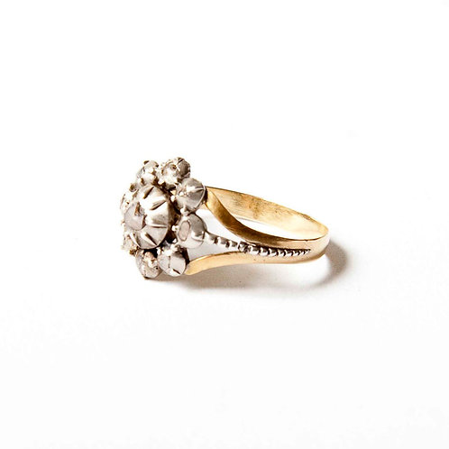Early 19th century diamond and gold ring - Dutch