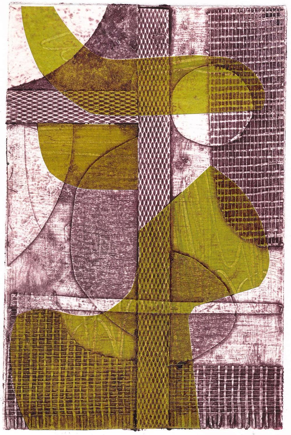 Collage Collagraph Print Artwork Art