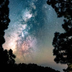 Milchstraße von unserer Unterkunft aus fotografiert