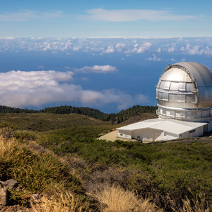 Observatorium oben auf dem Roque