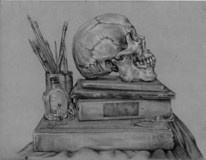 still life pencil sketch