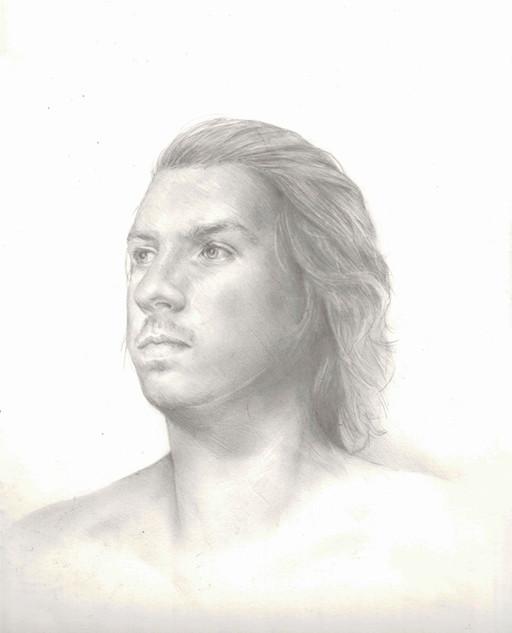 portrait sketch, pencil
