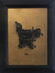 the artist's tool, oil on panel