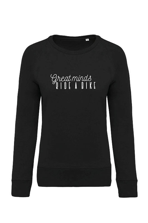Great minds ride a bike sweater - Women