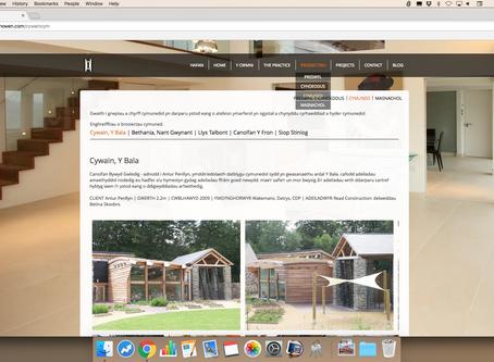 Gwefan Newydd | New Website