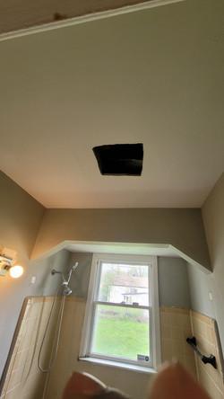 Installing bathroom ventilation fan
