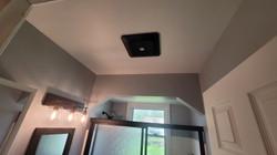 Ventilation fan installed