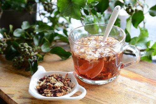オレンジのハーブティ(食べる紅茶)