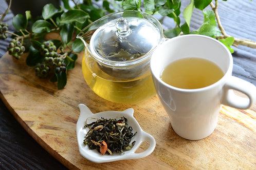 レモンとミントのハーブティ(食べる紅茶)
