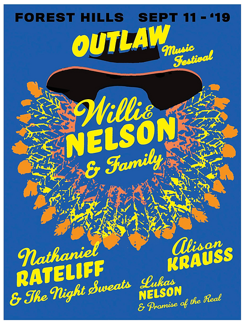 Willie / Outlaw at Forest Hills Poster