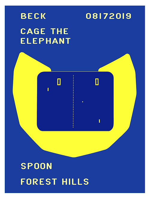 Beck / Cage / Spoon Poster