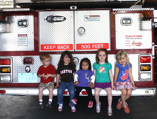 Group visit to the local fire station
