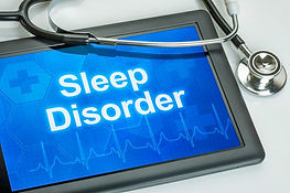 Tablet with the diagnosis sleep disorder