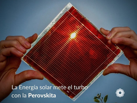 Paneles solares de perovskita