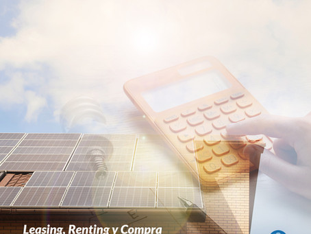 Leasing, Renting y Compra de Placas Solares