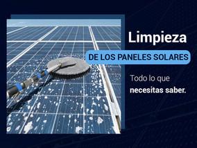 Limpieza de paneles solares.