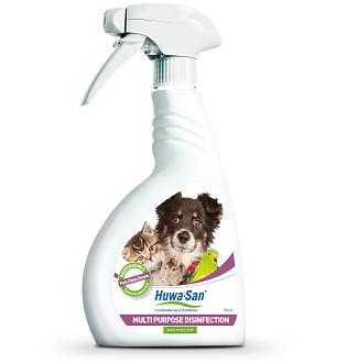 Chlorfreie Haustier Desinfektion Hygiene-und Umgebungsspray Huwa-San Pets