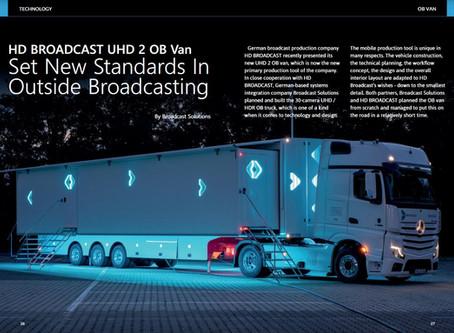 PRCOMM in the press - HD Broadcast OB Van in Magazine TMBroadcast