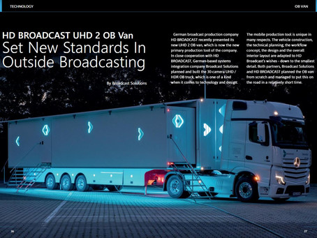 PRCOMM in the press - HD Broadcast OB Van in Magazine TMBroadcast