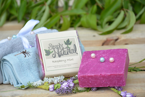 Raspberry Mint All Natural Handmade Bar Soap