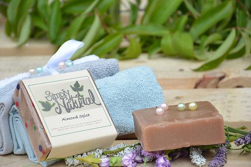 Almond Spice All Natural Handmade Bar Soap