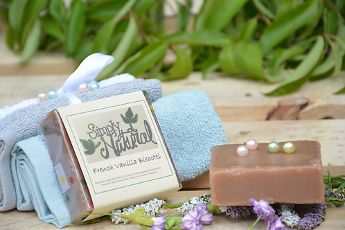 French Vanilla Biscotti All Natural Handmade Bar Soap