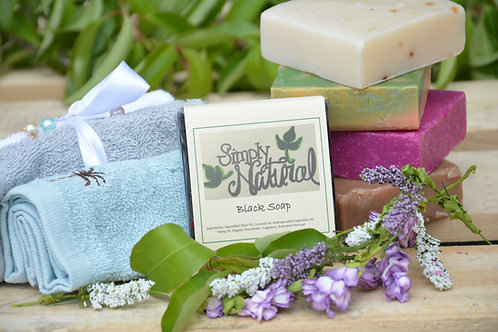 Black All Natural Handmade Bar Soap
