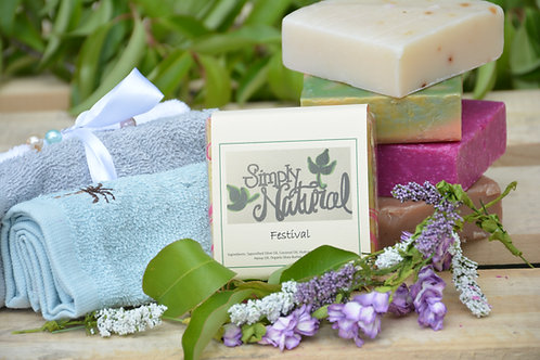 Festival All Natural Handmade Bar Soap