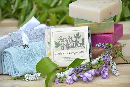 Black Raspberry Vanilla All Natural Handmade Bar Soap