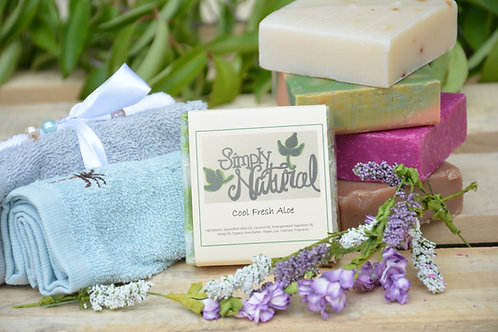 Cool Fresh Aloe All Natural Handmade Bar Soap