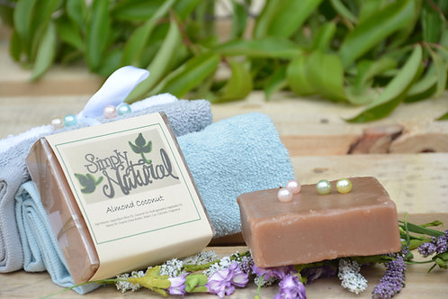 Almond Coconut All Natural Handmade Bar Soap