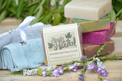 Sandalwood Rose Scrub Soap
