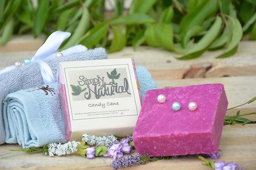 Candy Cane All Natural Handmade Bar Soap
