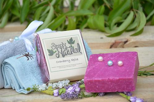 Cranberry Spice All Natural Handmade Bar Soap