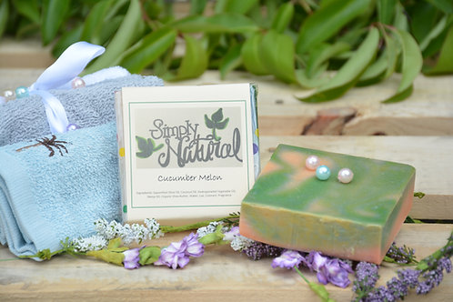 Cucumber Melon All Natural Handmade Bar Soap