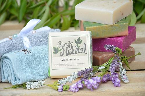 White Tea Mint All Natural Handmade Bar Soap