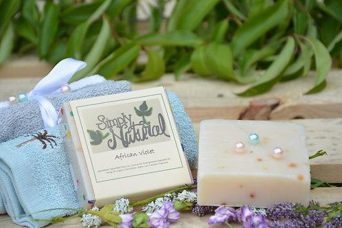 African Violet All Natural Handmade Bar Soap