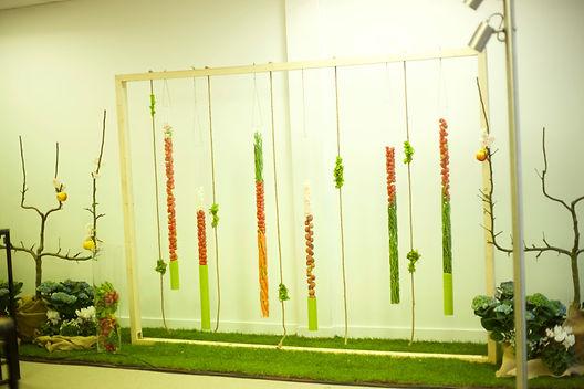cadre végétal avec fruits e légumes