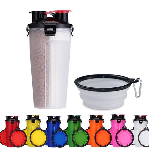 2in1 Portable Feeder with Collapsible Bowl