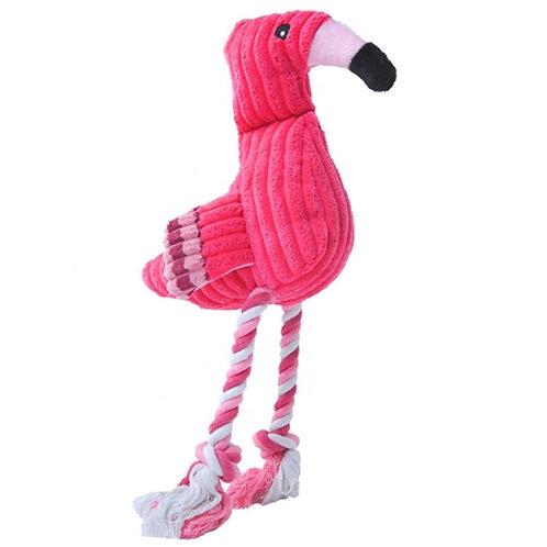Flamingo Plush Rope Toy